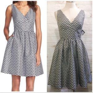 Halogen Chevron Fit & Flare Dress